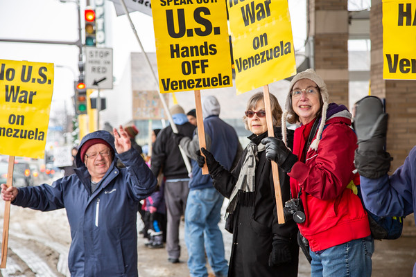 Hands Off Venezuela, Minneapolis, Februrary 23