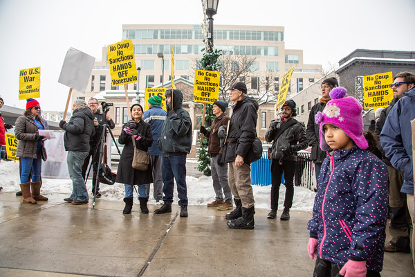 Hands Off Venezuela, Minneapolis, Februrary 23