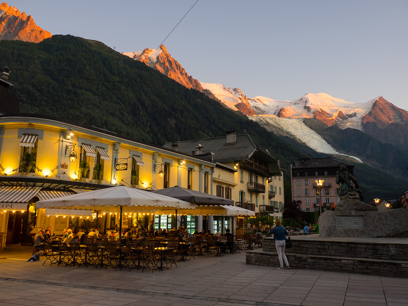 9/3 - Sunset above Chamonix