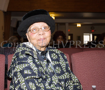 Mrs. Sadie Tallie, BHC President, overseeing the Black History Committee of the Hudson Valley Annual Rev. Dr. Martin Luther King Jr Memorial Service on Monday, January 21, 2019 at Mt. Carmel Church of Christ in Newburgh, NY. Hudson Valley Press/CHUCK STEWART, JR.