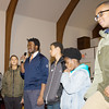 Youth from Coach George Bowles  workshop explain what they learned during the Black History Committee of the Hudson Valley Annual Rev. Dr. Martin Luther King Jr Memorial Service on Monday, January 21, 2019 at Mt. Carmel Church of Christ in Newburgh, NY. Hudson Valley Press/CHUCK STEWART, JR.