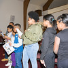 Shawna Newkirk-Reynolds introduces youth from her workshop, who explain what they learned during the Black History Committee of the Hudson Valley Annual Rev. Dr. Martin Luther King Jr Memorial Service on Monday, January 21, 2019 at Mt. Carmel Church of Christ in Newburgh, NY. Hudson Valley Press/CHUCK STEWART, JR.