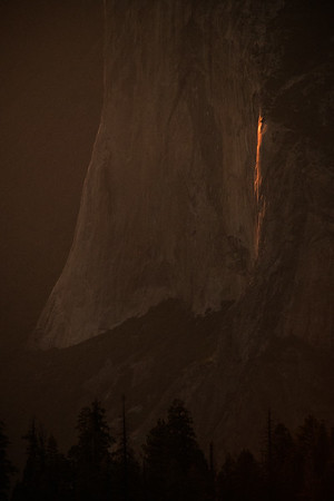 Moonlit Horsetail Falls