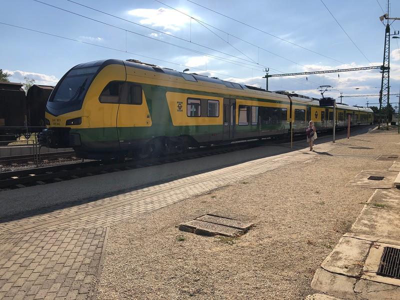 Took train back to Sopron with bike.