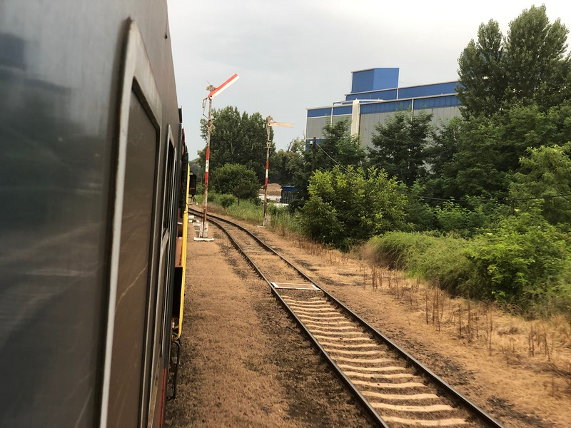 Bike tour ended with train to Budapest.