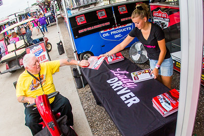 Fans interacting at the Lady Driver midway display