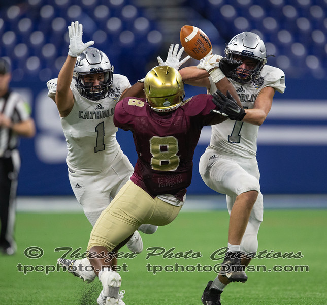 IHSAA class 1A State football championship between Indianapolis Luthern vs Lafayette Central Catholic, held at Lucas Oil Stadium in Indianapolis, IN. 11/29/2019. Photo by Eric Thieszen..