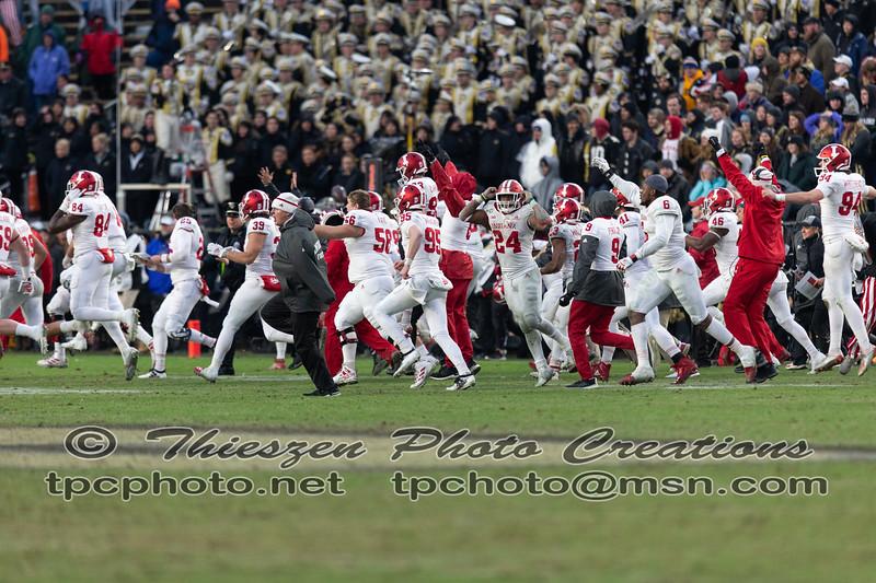 The Oaken Bucket game, IU vs Perdue, held at Ross-Ade Stadium in Lafayette, IN. 11/30/2019. Photo by Eric Thieszen..