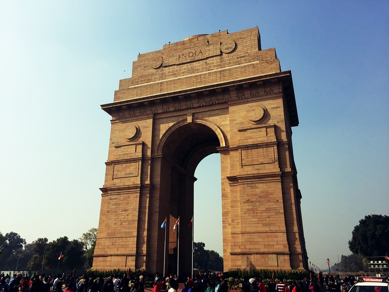 <b>India Gate</b> <br>Delhi, India <br>December 30, 2018