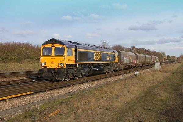 66717 Worting Junction 18/01/19 6Y42 Wellingborough to Eastleigh East Yard