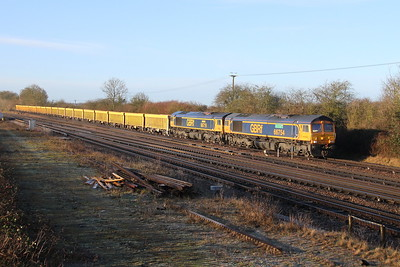 66754 Worting Junction 22/01/19 6M26 Eastleigh to Mountsorrellwith 66719