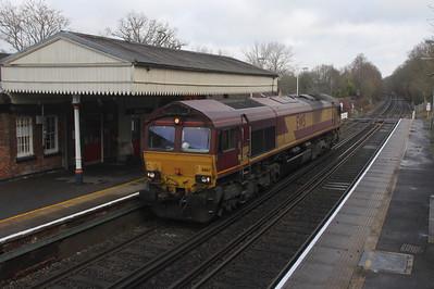 66167 Bentley 23/01/19 0Y32 Eastleigh to Holybourne