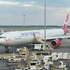 "Virgin Atlantic Airbus A340-600 G-VFIT ""Dancing Queen"" at New York JFK airport on my flight to Heathrow, 02.07.2019."