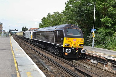 17 July 2017 :: 67006 + 67029 at Basingstoke on 5Z62 from Eastleigh to Tysley