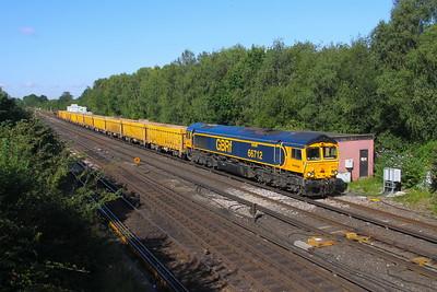 66712 Worting Junction 29/07/19 6M26 Eastleigh to Mountsorrel