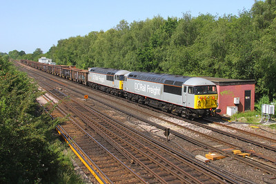 56091 Worting Junction 29/06/19 6Z19 Southampton Up Yard to Chaddesden Sidings with 56103 It was good while it lasted but the 56's have returned North having only spent a few days working between Westbury and Southampton.