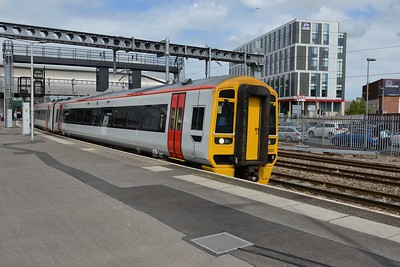 20 June 2019 :: 158 830 in Transport for Wales livery departs Newport on 1V42, the 1231 from Manchester Piccadilly to Milford Haven
