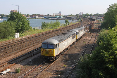 56103 St Deny's 26/06/19 shunting 6Z91 which has just arrived from Westbury