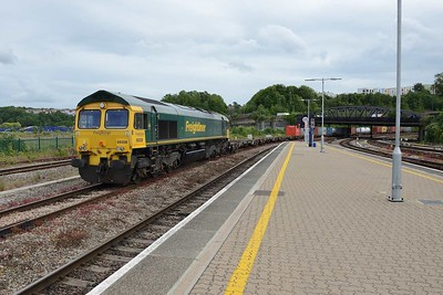 20 June 2019 :: 66508 is seen at Bristol Temple Meads with 4L30 from Bristol to London Gateway