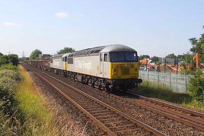 56103 Nursling 26/06/19 6Z91 Westbury to Southampton Up Yard with 56091