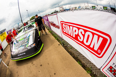 Tyler Erb's car passing by LOLMDS pit banners