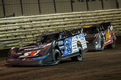 Scott Bloomquist (0) and Jake Neal (14J)