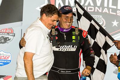 Shane Clanton (R) and car owner Greg Bruening (L)
