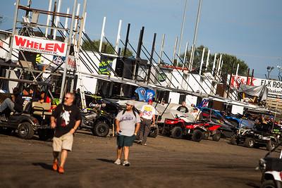 Knoxville Raceway pit area