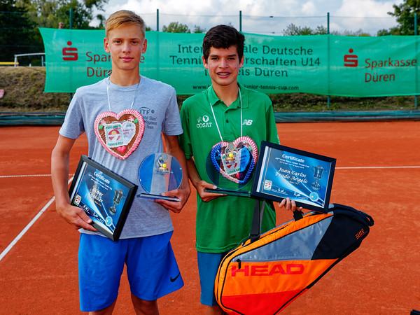 08b Finalists boys - Kreis Düren Junior Tennis Cup 2019