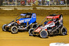 Pennsylvania Midget Week - NOS Energy Drink USAC National Midget Championship - Clyde Martin Memorial Speedway - 17BC Chris Windom, 27 Tucker Klaasmeyer
