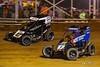 Pennsylvania Midget Week - NOS Energy Drink USAC National Midget Championship - Clyde Martin Memorial Speedway - 47BC Andrew Layser, 17BC Chris Windom