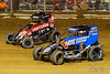 Pennsylvania Midget Week - NOS Energy Drink USAC National Midget Championship - Clyde Martin Memorial Speedway - 71K Tanner Carrick, 17BC Chris Windom