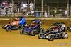 Pennsylvania Midget Week - NOS Energy Drink USAC National Midget Championship - Clyde Martin Memorial Speedway - 7BC Tyler Courtney, 67 Logan Seavey, 5 Kevin Thomas Jr.
