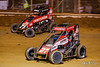 Pennsylvania Midget Week - NOS Energy Drink USAC National Midget Championship - Clyde Martin Memorial Speedway - 27 Tucker Klaasmeyer, 71K Tanner Carrick