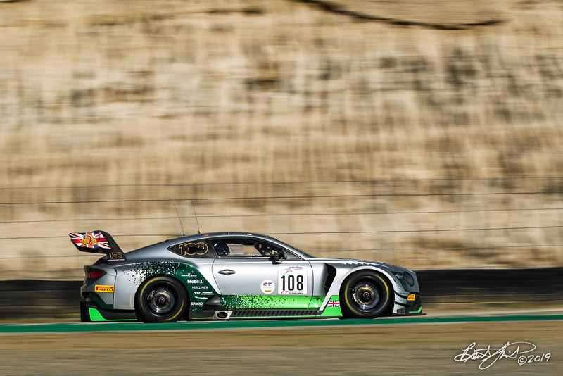 Intercontinental GT Challenge Powered by Pirelli - California 8 Hour - WeatherTech Raceway Laguna Seca - 108 Bentley Team M-Sport Bentley Continental GT3, Lucas Ordonez, Markus Palttala, Maxime Soulet