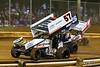 Pennsylvania Sprint Car Speedweek - Lincoln Speedway - 57 Kyle Larson, 87 Aaron Reutzel, 26 Cory Eliason