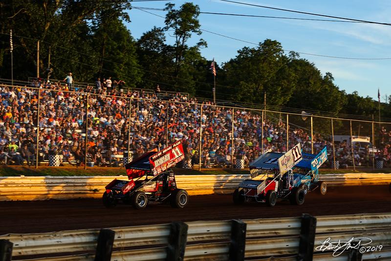 Pennsylvania Sprint Car Speedweek - Lincoln Speedway - 11 TJ Stutts, 11 Dale Blaney, 70 Brock Zearfoss