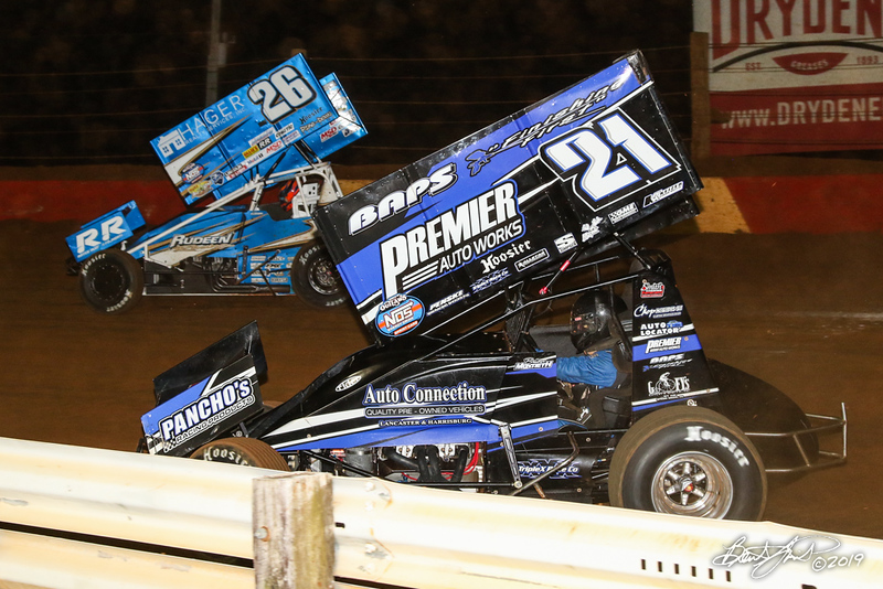 Pennsylvania Sprint Car Speedweek - Lincoln Speedway - 26 Cory Eliason, 21 Brian Montieth