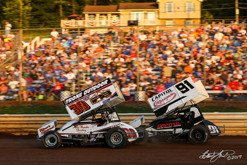 Pennsylvania Sprint Car Speedweek - Lincoln Speedway - 39 Cory Haas, 91 Kyle Reinhardt