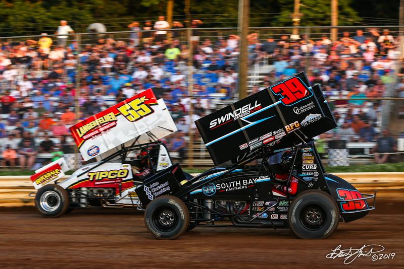 Pennsylvania Sprint Car Speedweek - Lincoln Speedway - 55K Robbie Kendall, 39B Christopher Bell