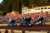 Pennsylvania Sprint Car Speedweek - Lincoln Speedway - 24R Rico Abreu, 75 Chase Dietz, 24 Lucas Wolfe