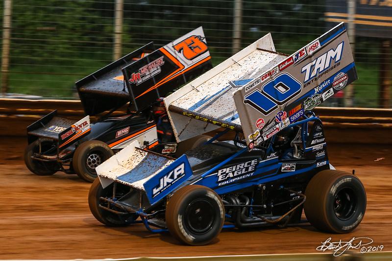 Lincoln Speedway - 73B Brett Michalski, 10 Joe Kata