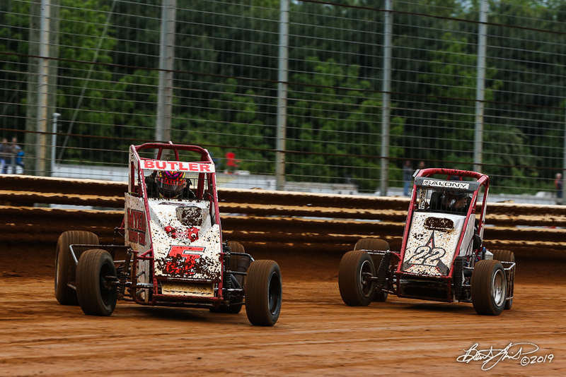 Lincoln Speedway - 5B Bobby Butler, 22S Reed Salony