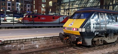 91110, 91116 & 91119 Line up at Kings Cross