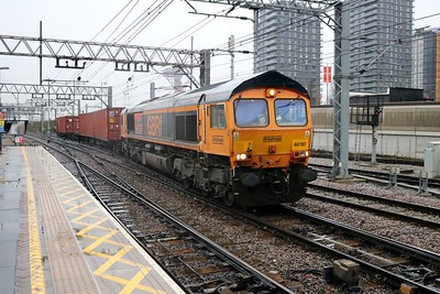 66787 0908/4L02 Hams Hall-Felixstowe at Stratford