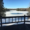 LAKE STILL FROZEN OVER...LOTS OF ICE YET...MARCH 2019