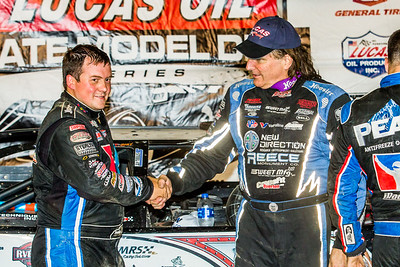 Brandon Sheppard (L) and Scott Bloomquist (R)