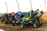 dirt track racing image - COMP Cams Sprint Car World Championship - Mansfield Motor Speedway - 7DK Dylan Kingan, 26 Cory Eliason, 1 Sammy Swindell, 24 Rico Abreu