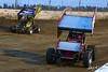 COMP Cams Sprint Car World Championship - Mansfield Motor Speedway - 40 George Hobaugh, 33 Brent Matus