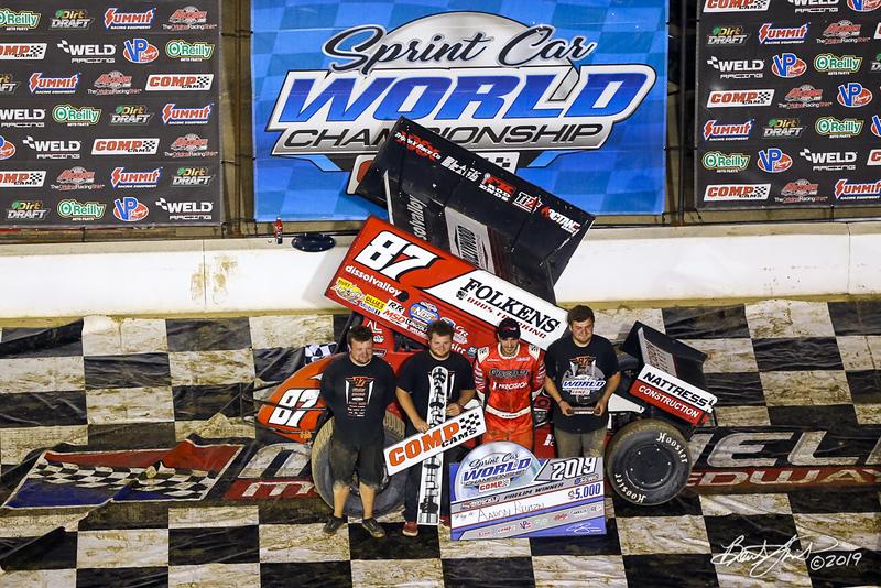 COMP Cams Sprint Car World Championship - Mansfield Motor Speedway - 87 Aaron Reutzel